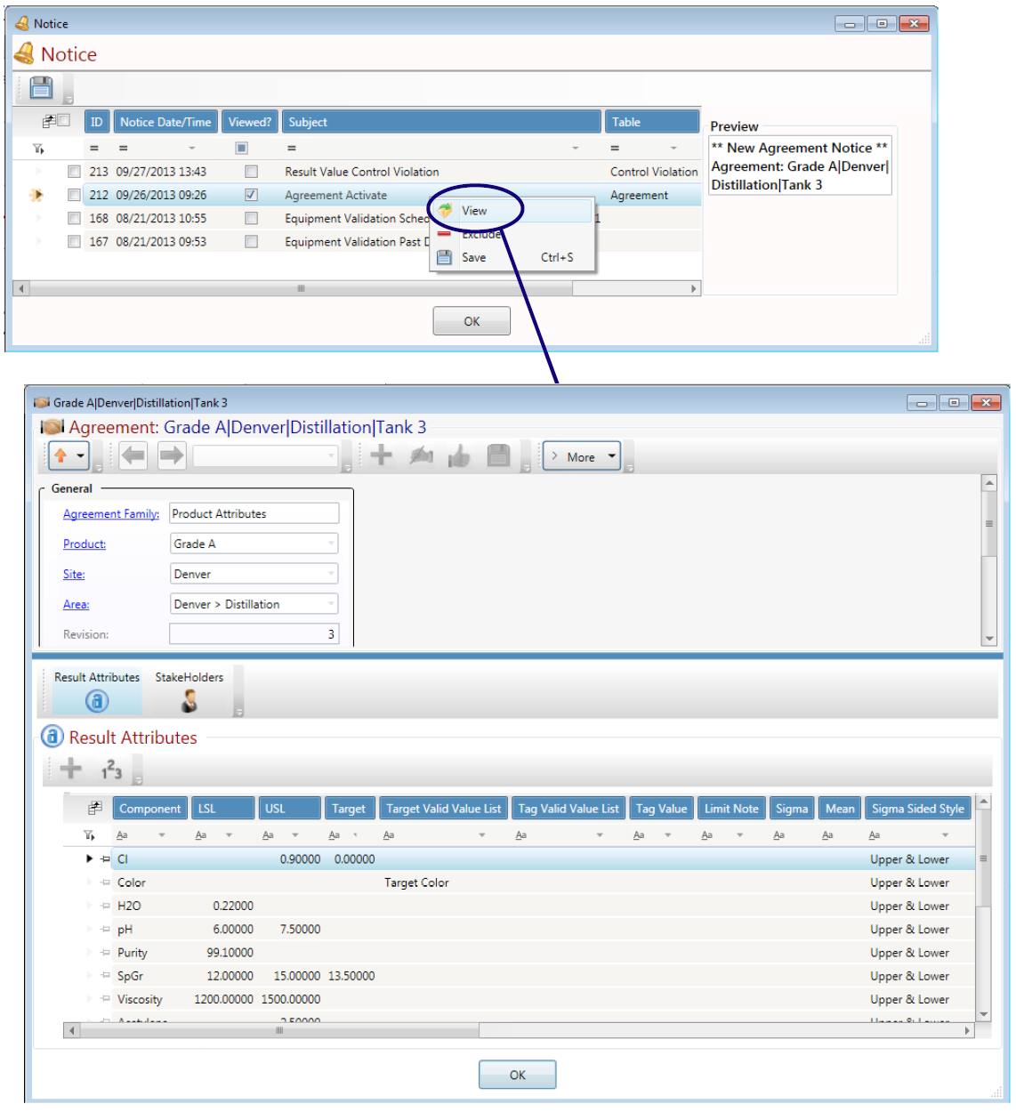 LabSoft LIMS Notices Feature