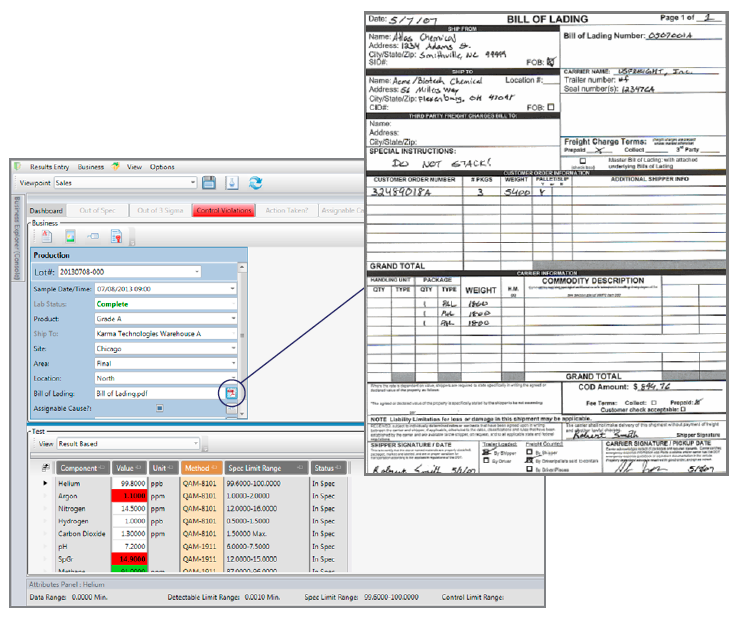 LabSoft LIMS Software - Result Entry options